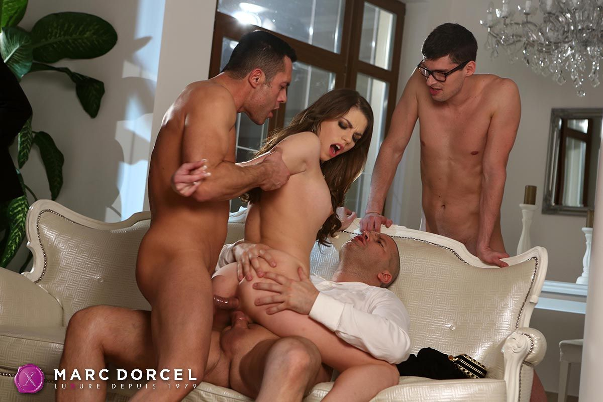 Alison star gets double teamed by two formidable cocks - 1 part 6